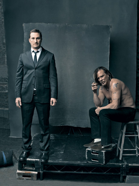Darren Aronofsky and Mickey Rourke Vanity Fair