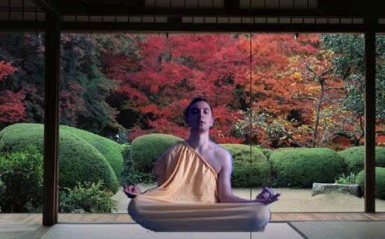Meditující Kryšpín v reklamě